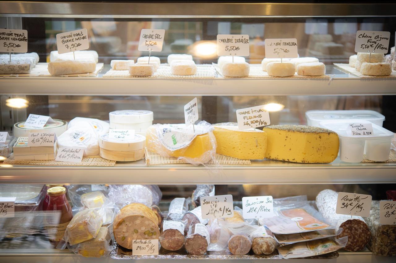 Sélection de fromages par l'Épicerie du Petit Bouillon Pharamond