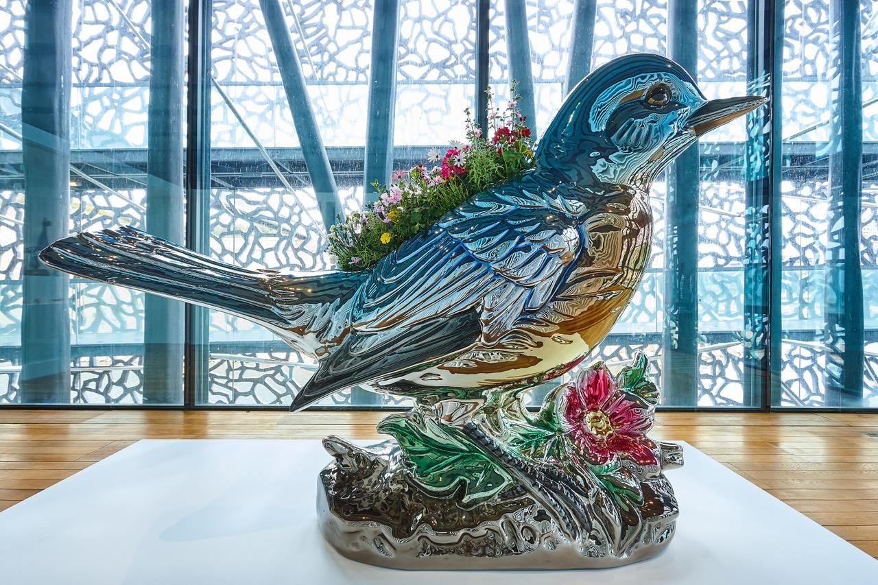 Bluebird by Jeff Koons Mucem